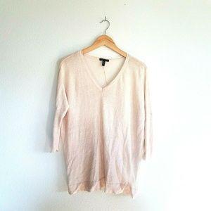 Eileen Fisher Linen Sweater Size Small Light Pink